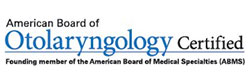 American Board of Otolaryngology Certification seal